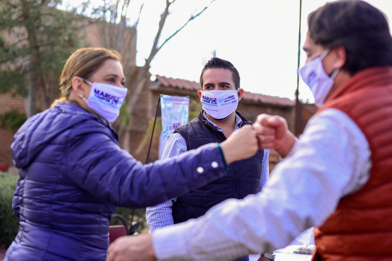 Recibe Maru apoyo total del panismo juarense en la icónica Casa Azul