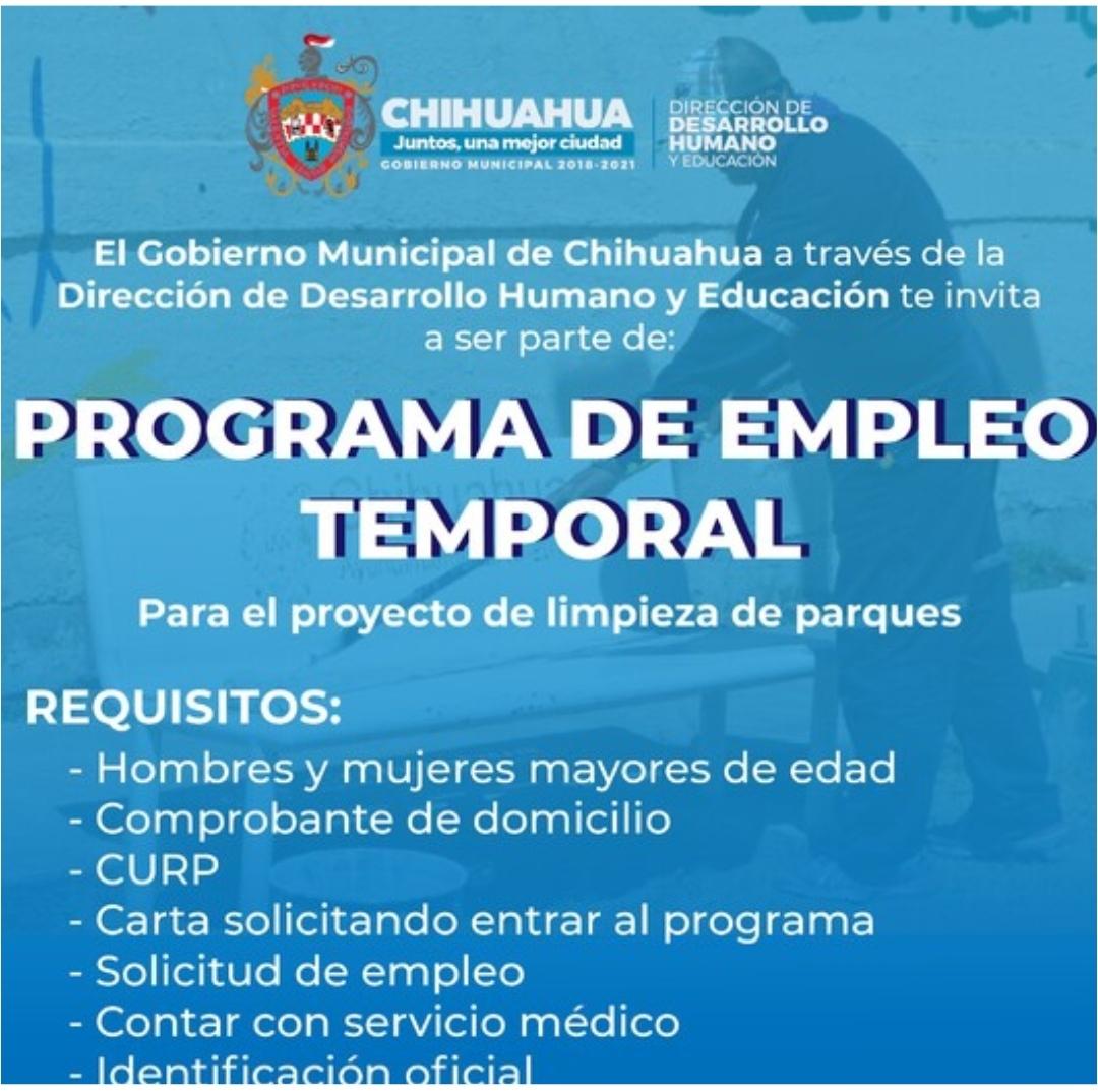 Convoca Gobierno Municipal a Programa de Empleo Temporal 2021