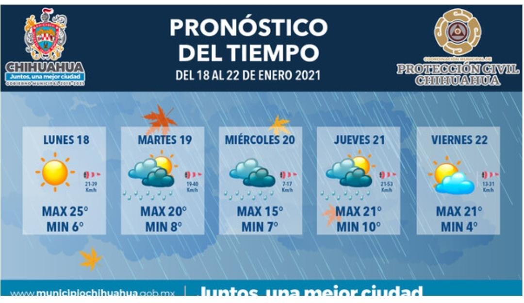 Se esperan lluvias para los siguientes días: Protección Civil Municipal