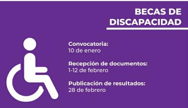 Este lunes inicia la recepción para el Programa Municipal de Becas de Discapacidad 2021