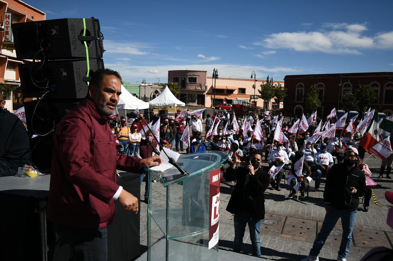 Llama Loera en Parral a acompañar a AMLO en la Cuarta Transformación de México