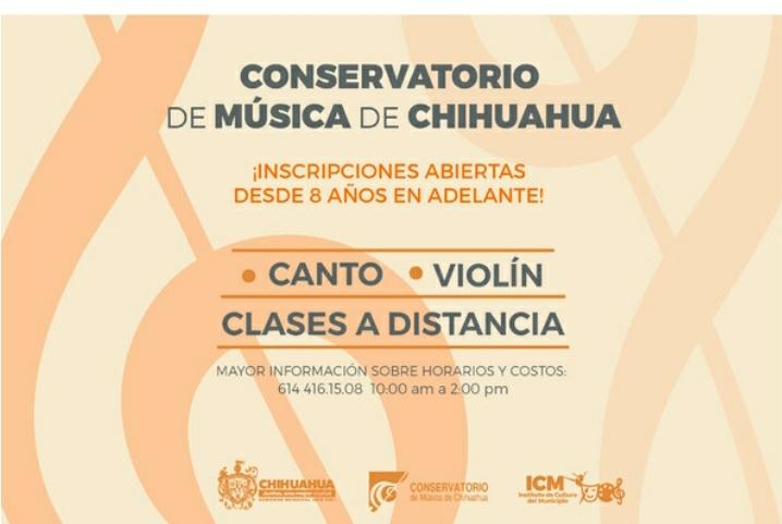 Participa en los talleres a distancia de canto y violín que ofrece el Conservatorio de Música