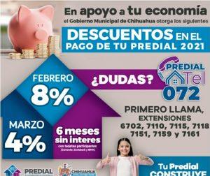 Aprovecha última semana del 8 por ciento de descuento en el Impuesto Predial