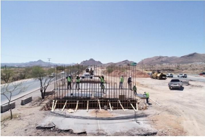Avanza construcción del paso superior en carretera Aldama – Chihuahua