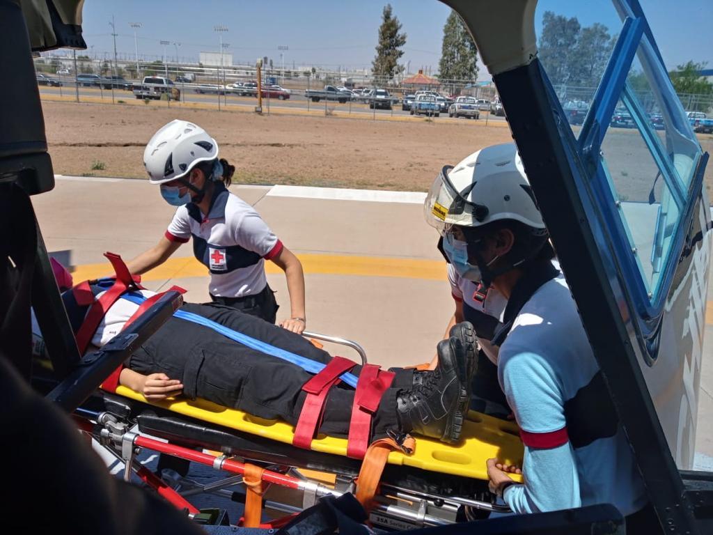 Capacita DSPM a Cruz Roja sobre rescates aéreos
