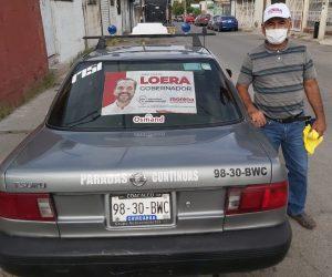 Suman consejeros de Morena a gremio taxista a campaña de Juan Carlos Loera