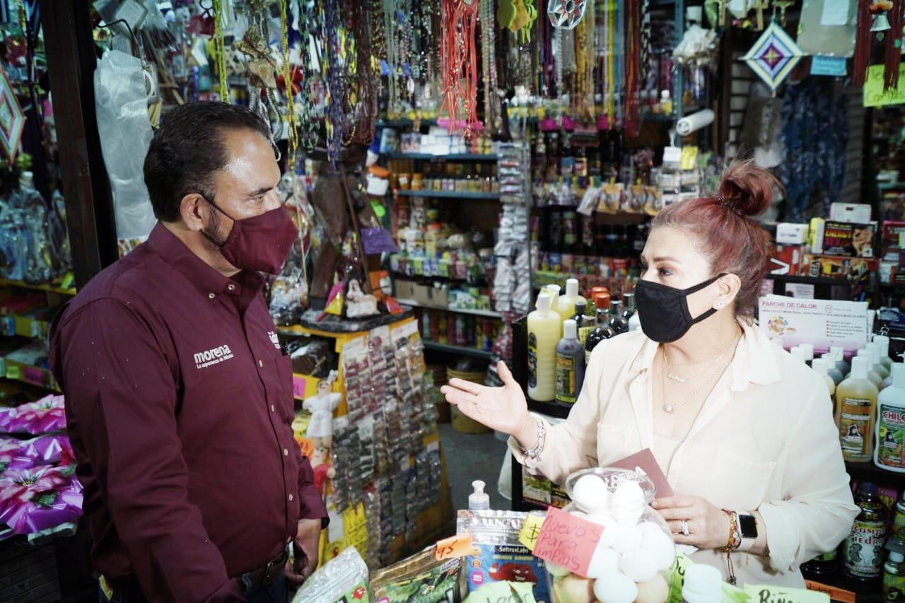 Locatarios y comerciantes del centro histórico piden a  Loera más inversión pública