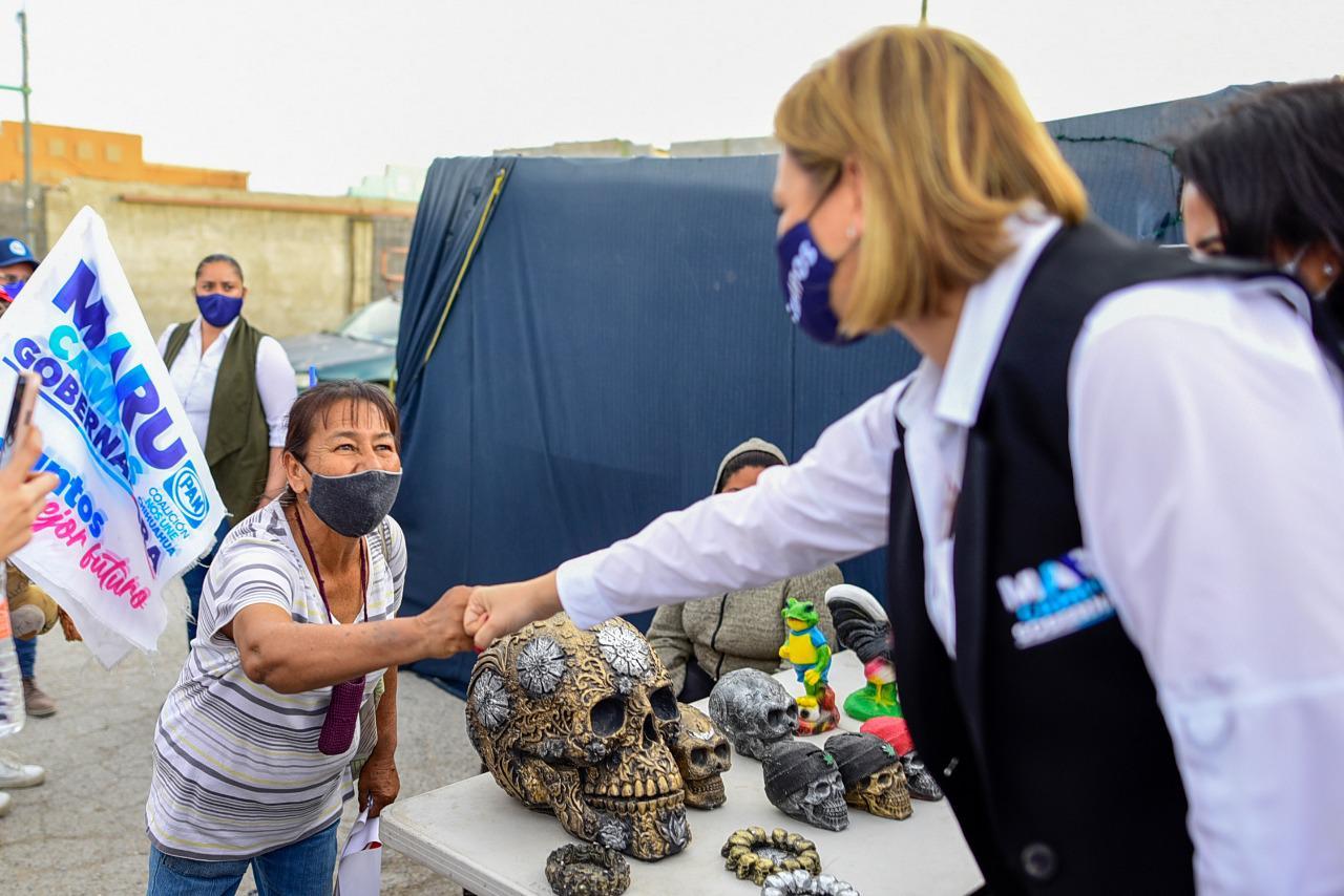Propone Maru acciones que cambien la realidad de los juarenses de Riberas del Bravo