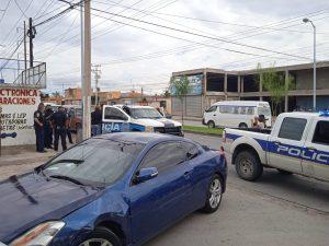 Amenaza a policías y desata persecución